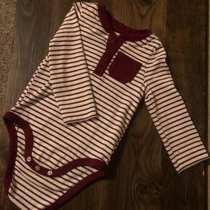 Cat and Jack striped onesie